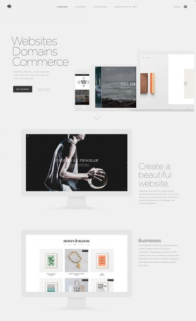 Build a Website – SquarespaceのLPデザイン