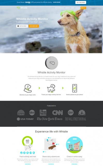 Whistle Activity MonitorのLPデザイン