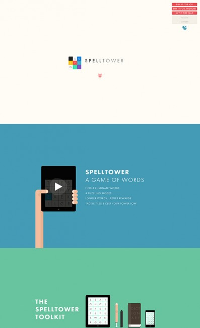 SpellTowerのLPデザイン