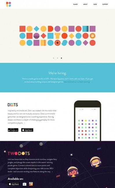 DotsのLPデザイン