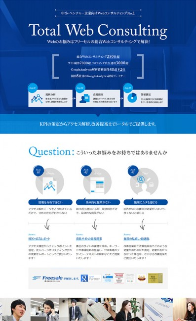 Webコンサルタント.jpのLPデザイン