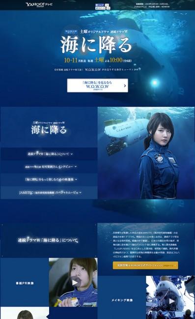 WOWOW連続ドラマW 海に降るのLPデザイン