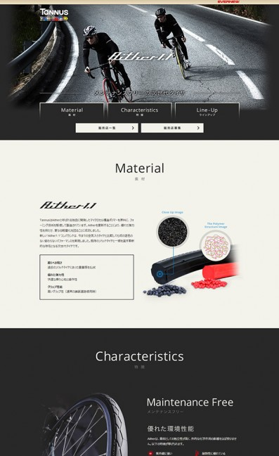 >Tannus | タンナス – 次世代超軽量ソリッドタイヤ。のLPデザイン