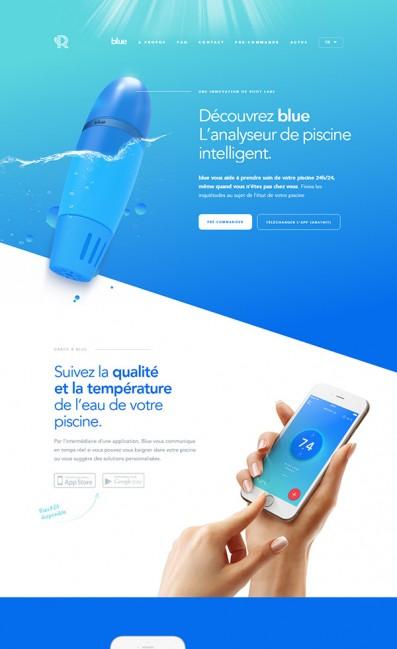 Accueil – Riiot LabsのLPデザイン