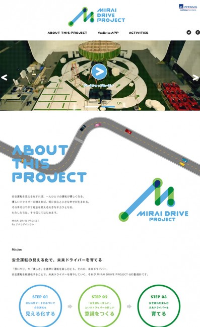 MIRAI DRIVE PROJECTのLPデザイン