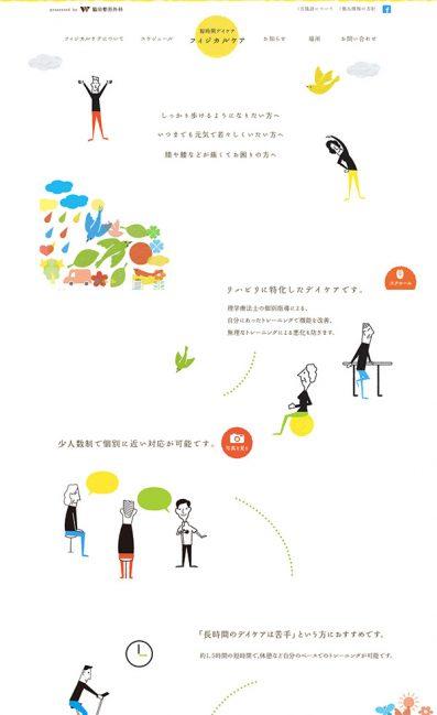 フィジカルケア 脇田整形外科のLPデザイン