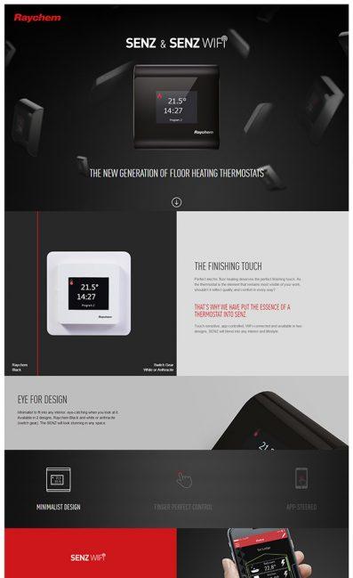 Senz & Senz Wifi | RaychemのLPデザイン