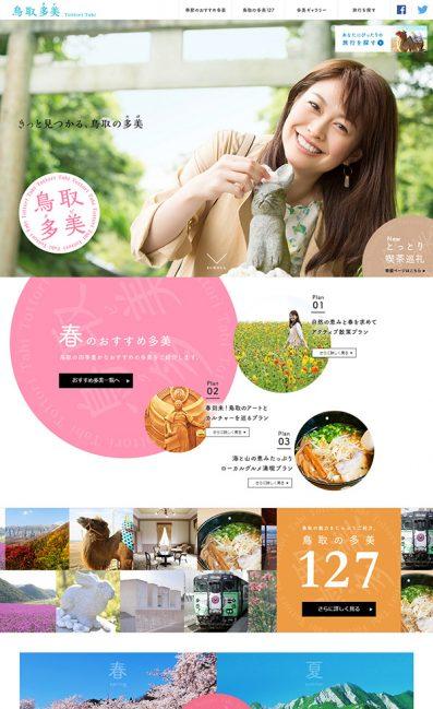 ANA鳥取多美のLPデザイン