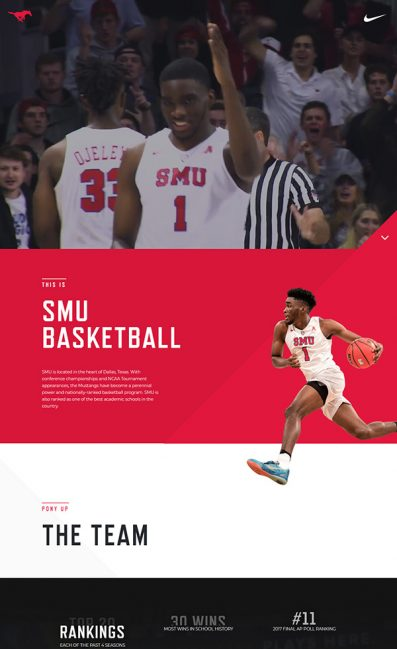 SMU BasketballのLPデザイン
