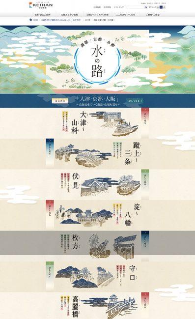 湖都・古都・水都 〜水の路〜|おすすめ!のLPデザイン