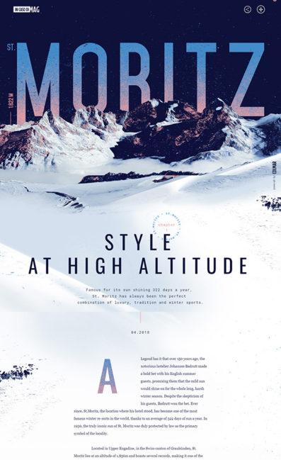 St. MoritzのLPデザイン