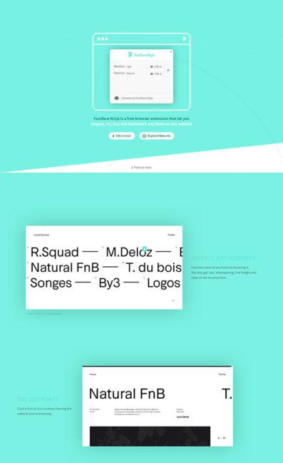 Fontface NinjaのLPデザイン