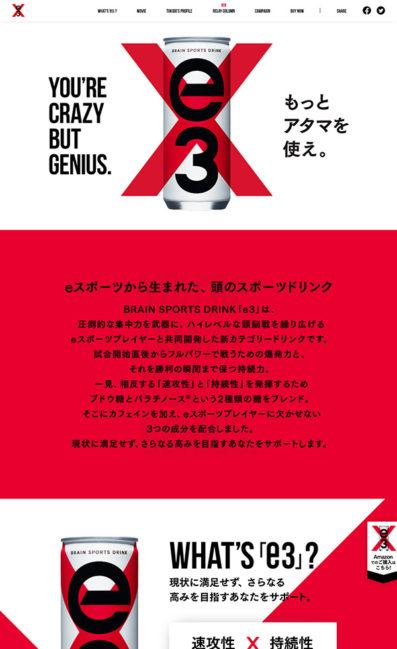 BRAIN SPORTS DRINK 【e3】のLPデザイン