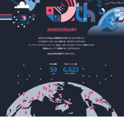 Repro創業5周年記念インフォグラフィックスのLPデザイン